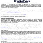 CreativeFuture Introduction Screenshot